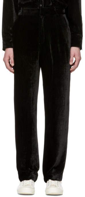Sies Marjan SSENSE Exclusive Black Velvet Cord Toby Trousers