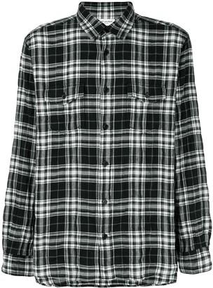 Saint Laurent plaid straight fit shirt