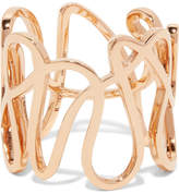 Repossi White Noise 18-karat Rose Gold Ring - 52