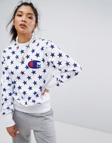 Champion Crew Neck Sweatshirt With All Over Star Print