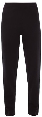 Allude Straight-leg Cashmere Trousers - Black