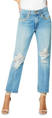 Ramy Brook Elle Embellished Boyfriend Jeans