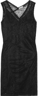 Nina Ricci Ruched Stretch-lace Mini Dress