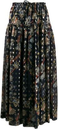 Chloé Floral-Print Maxi Skirt