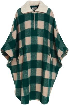Isabel Marant Etoile Checked Print Collar Poncho