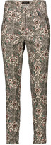 Isabel Marant Mayeul printed cotton-blend corduroy skinny pants