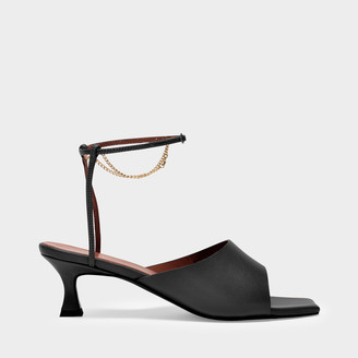 MANU Atelier Sandals Athena In Black Nappa Leather