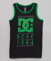 DC Black & Green 'DC' Tank - Boys