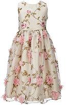 Jayne Copeland Big Girls 7-12 3D Flowers Organza Overlay Dress