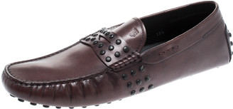 Tod's Dark Brown Leather Penny Loafers Size 45