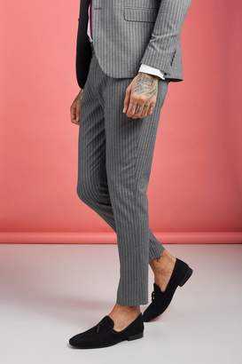 boohoo Wide Stripe Smart Trouser
