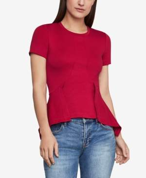 BCBGMAXAZRIA Princess-Seam Peplum Top