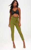 PrettyLittleThing Black Polka Dot Paperbag Waist Skinny Trousers