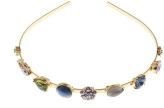 Oscar de la Renta Crystal and Cabochon Headband