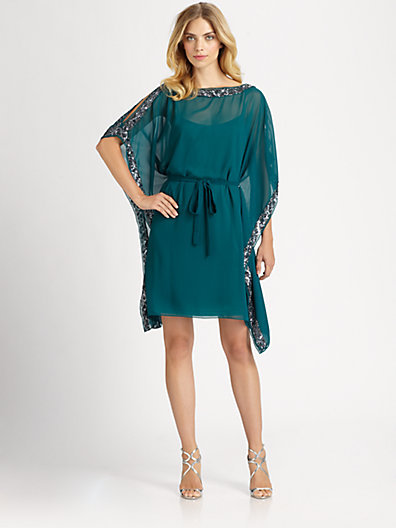 Aidan Mattox Sequined Caftan Dress
