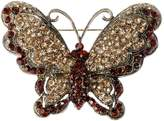 Alilang Victorian Antique Queen Topaz Crystal Rhinestone Butterfly Pin Brooch