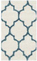 Safavieh Kids Shag Ivory/ Blue Rug (3' x 5')