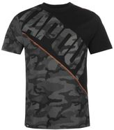 Tapout Mens Camouflage Panel T Shirt Tee Top Crew Neck Short Sleeve Regular Fit