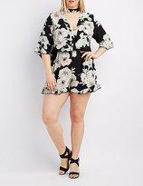 Charlotte Russe Plus Size Floral Choker Neck Romper