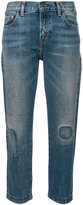 Levi's stitch detail straight jeans