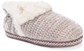 Muk Luks Magdalena Printed Knit Faux Shearling Lined Slipper