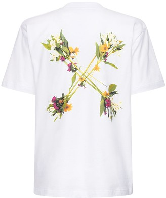 Off-White Floral Arrows Printed Jersey T-shirt