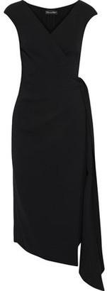 Oscar de la Renta Wool-blend Crepe Midi Wrap Dress