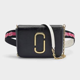 Marc Jacobs Hip Shot Belt Bag In Black Leather With Polyuretha