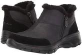 Skechers Easy Going Zip Service (Black) Women's Shoes