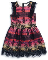 Marciano Girls 7-16 Striped Lace Party Dress