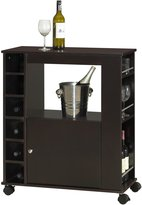 Baxton Studio Ontario Modern & Contemporary Wood Dry Bar & Wine Cabinet