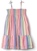 Gap Stripe tier smock dress