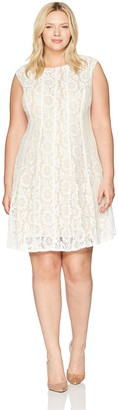 Julian Taylor Women's Size Lace Fit and Flare Dress Plus