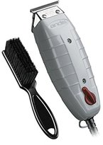 Andis Outliner Trimmer with T-Blade (Glossy Gray) with a BeauWis Blade Brush