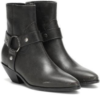 Saint Laurent West Harness leather ankle boots