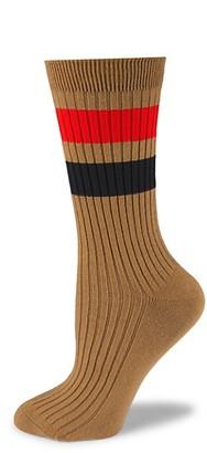 Burberry Graphic Stripe Ribbed Crew Socks
