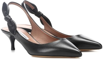 Tabitha Simmons Rise leather slingback pumps
