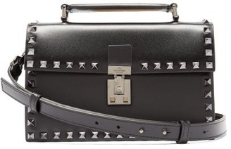 Valentino Rockstud Leather Cross-body Bag - Black