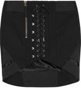 Anthony Vaccarello Cotton Mini Skirt - Black