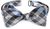 John W. Nordstrom Check Silk Bow Tie
