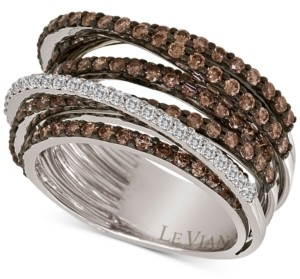 LeVian Le Vian Chocolatier Multi-Band Diamond Ring (2-1/3 ct. t.w.) in 14k White Gold