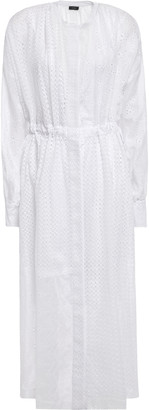 Joseph Broderie Anglaise Cotton-blend Midi Shirt Dress