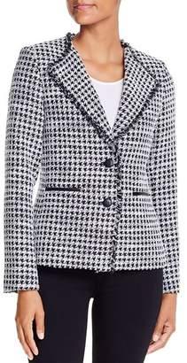 Karl Lagerfeld Paris Textured Houndstooth Blazer