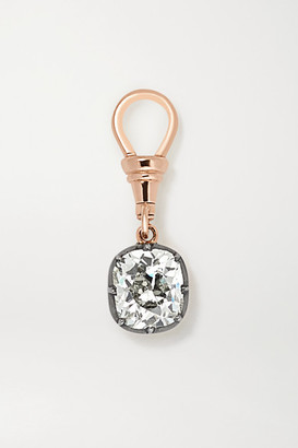 Jessica McCormack Ball 'n' Chain 18-karat Rose And Blackened White Gold Diamond Pendant - Rose gold