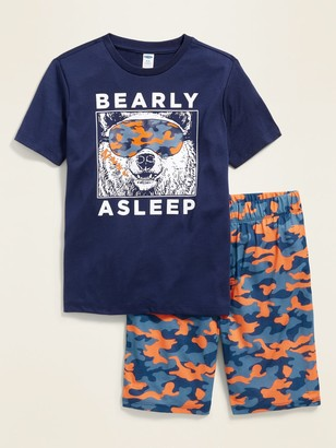 Old Navy Graphic Pajama Tee & Pajama Shorts Set for Boys