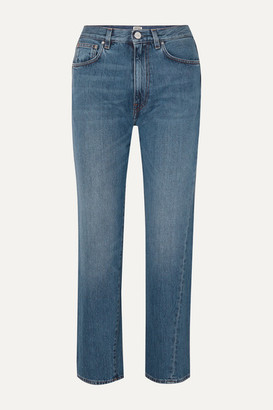 Totême Cropped High-rise Straight-leg Jeans - Mid denim
