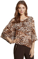Chico's Knit Kit Leopard-Print Top