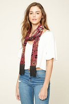 Forever 21 Floral and Paisley Print Scarf