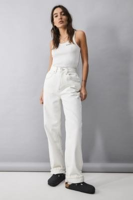 BDG White High-Waisted Baggy Boyfriend Jeans - White 24W 30L at Urban Outfitters