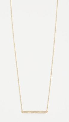 Jennifer Meyer 18k Gold Diamond Stick Necklace